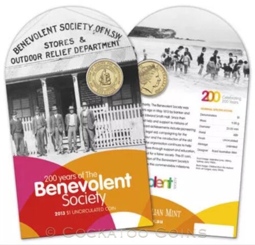 2013 $1 Uncirculated Coin 200 Years of the Benevolent Society