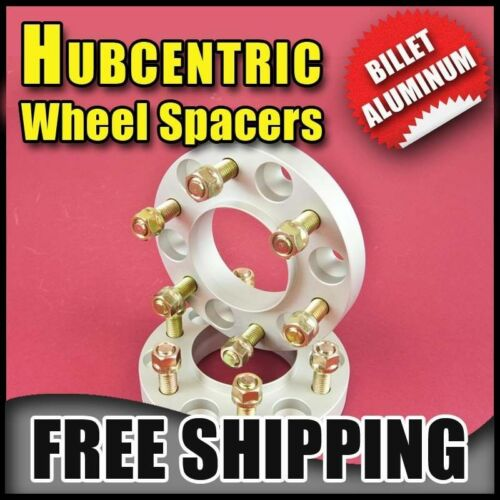 "25MM 1/"" Silver Hubcentric Wheel AdaptersCadillac 6x139.778.114x1.5"