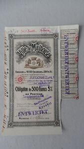 Ville de Mulhouse Haut Rhin-Obligation de 500 Francs 5% v.1919-zurückbezahlt - Deutschland - Ville de Mulhouse Haut Rhin-Obligation de 500 Francs 5% v.1919-zurückbezahlt - Deutschland