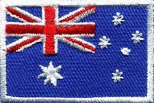 "5199 C48 Biker Vest Australia AUSTRALIAN FLAG 3/"" x 2/"" iron on patch"