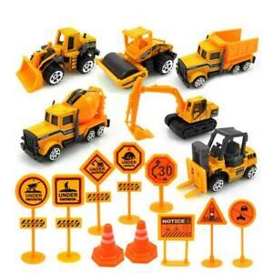 16x-Kids-Mini-Metal-Construction-Truck-Car-Model-Toy-Digger-Excavator-Gift-Set