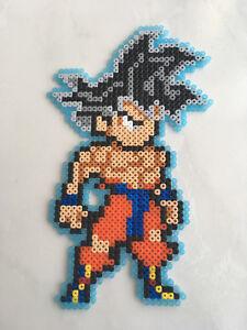 Détails Sur Pixel Art Perles A Repasser Dragon Ball Goku Ultra Instinct Tenue Dechiree