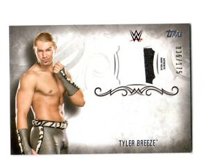 WWE-Tyler-Breeze-2016-Topps-Undisputed-Event-Worn-Shirt-Relic-Card-SN-36-of-175