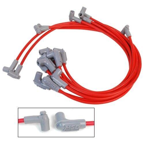 MSD IGNITION 31229 Red Universal 8.5mm Spark Plug Wire Set 90 Degree Plug