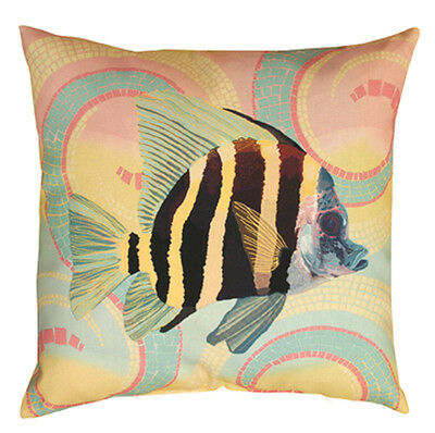 "Tropical Angel Fish Indoor//Outdoor Climaweave 20/"" Toss Pillow"