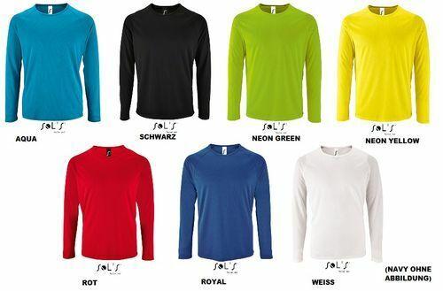 Sol´s Herren Longsleeve Sport Fitness T-Shirt Sporty langarm Funktionsshirt