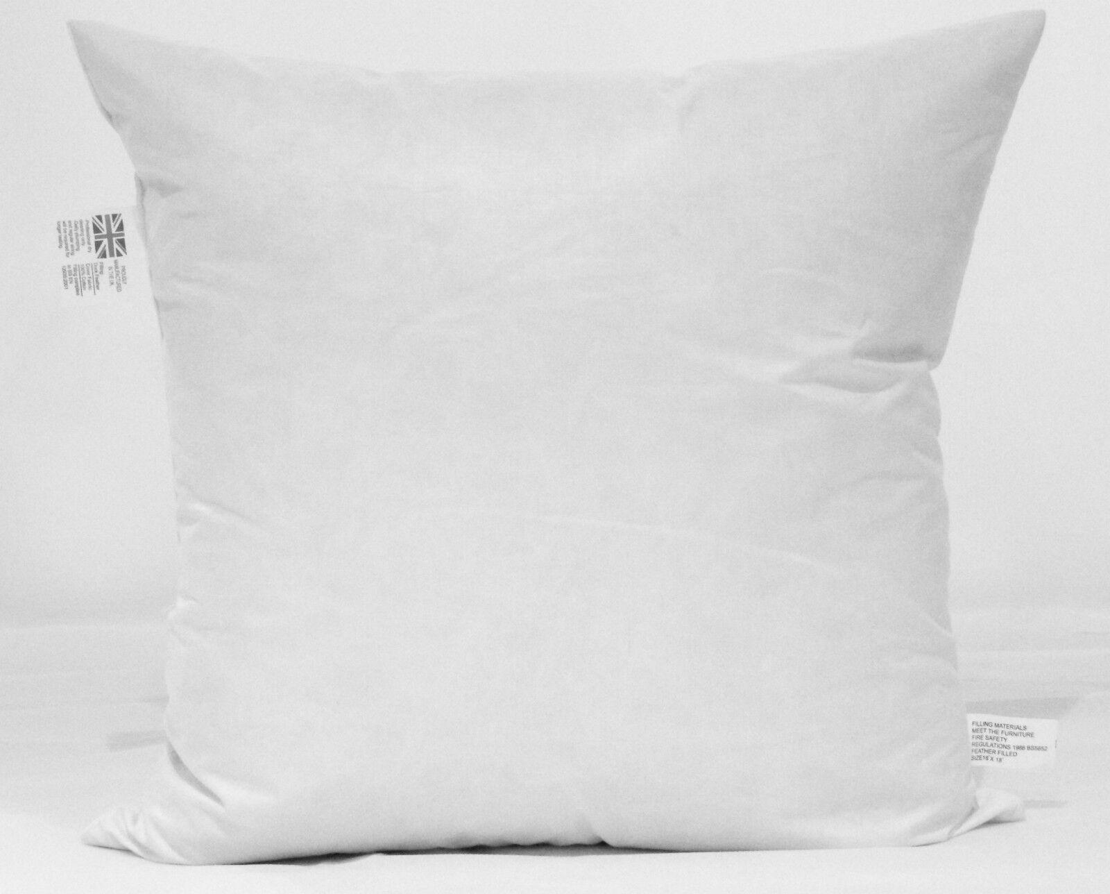 5 x 24 x 24 Cuscino di piuma di anatra Cuscinetti Imbottiti Inserti-bianca pad British made