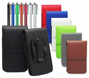 Universal-Vertical-Leather-Belt-Pouch-Holster-Clip-Loop-For-Various-Mobile-Phone