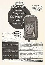 W9668 KODAK Regent - Obbiettivo F. 4.5 - Pubblicità del 1936 - Old advertising