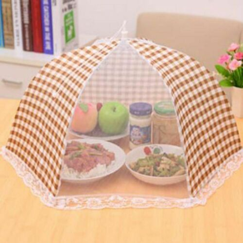 1pc UTILE ALIMENTAIRES tentes Insecte Housse Respirant pliable Food Cover parapluie style