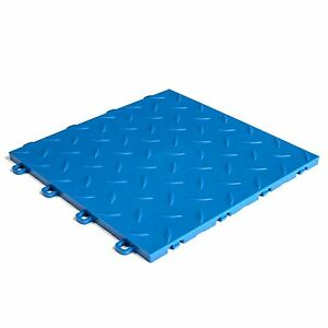 Premium Basement Flooring Diamond Royal Blue - Made In USA - FREE & FAST DELIVE