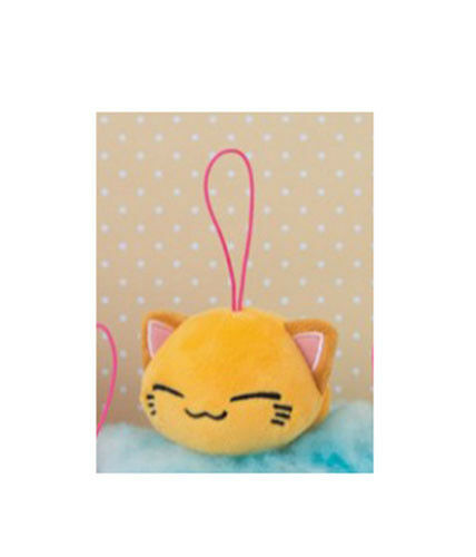 NEW FuRyu Nemuneko Yellow Cat Keychain Plush Charm 8cm AMU-PRZ8632 US Seller