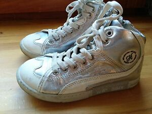 low priced 21030 ad261 Details about HIP Pinocchio Leder sneaker silber