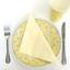 50 in pack Wedding party Ivory cream 3 ply Dinner napkins 40cm birthday