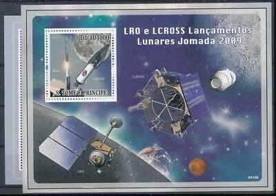 Raumfahrt Briefmarken GroßZüGig 191349 Sao Tomé+principe Klbg.4135-8+b.707** Raumfahrt Einfach Und Leicht Zu Handhaben