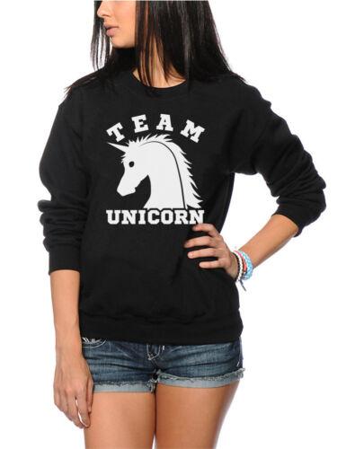 Cute Uni  Youth /& Womens Sweatshirt Team Unicorn