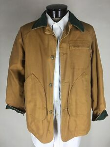 LL Bean Hunt Jacket, Men's Size L, Orange