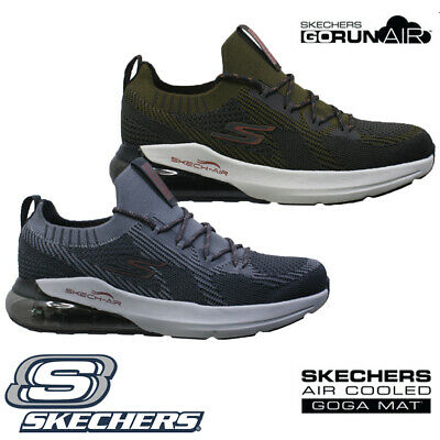 Skechers Air Cooled Memory Foam DYNA AIR Mens Running Gym Fashion Trainers BLK