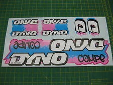 Set of Dyno Compe BMX stickers Light Blue/Pink