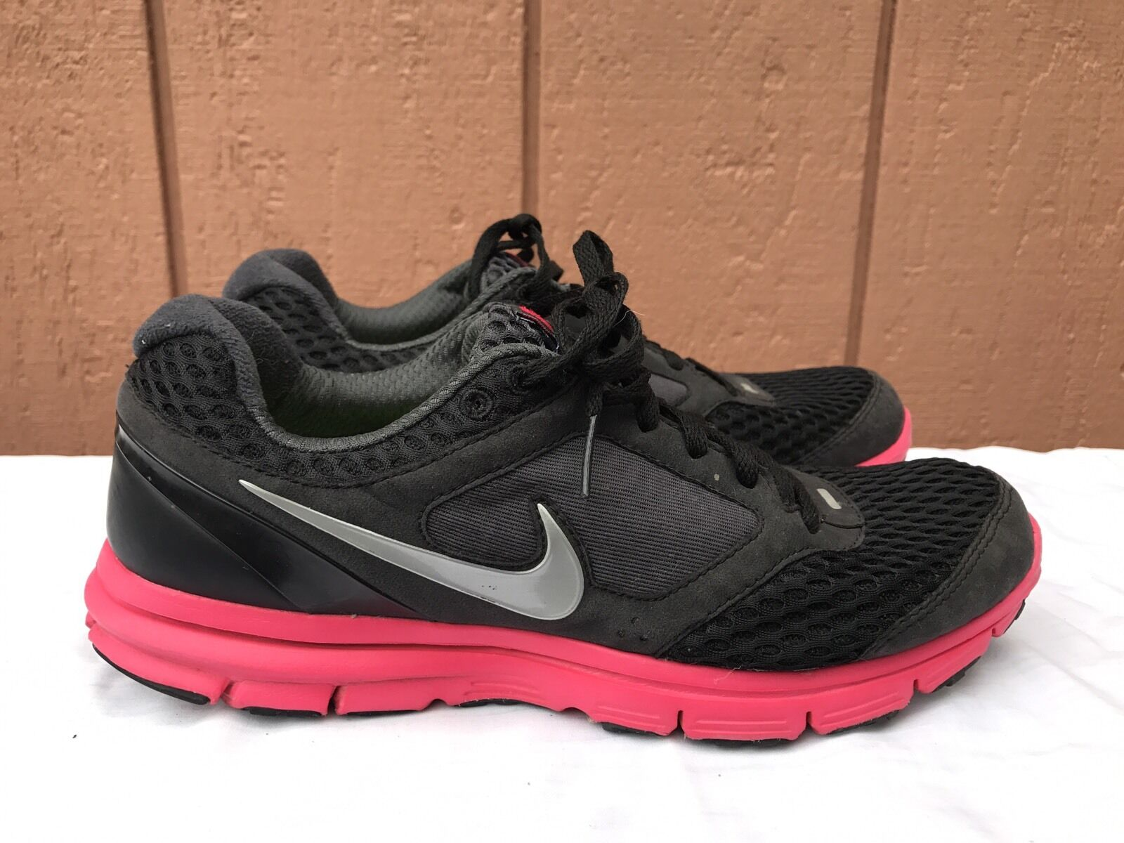 EUC NIKE WOMEN'S LUNARFLY+ 2 BREATHE SHOES US 8.5 BLACK ANTHARCITE 452418 006 best-selling model of the brand