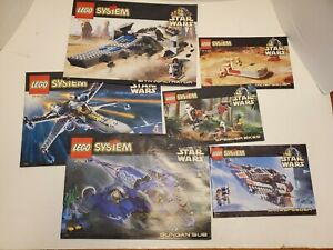 Lego-Instruction-Manuals-Lot-Star-Wars