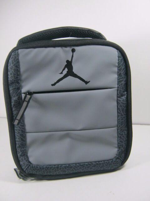 18d2c7daaf ... Nike Air Jordan Insulated Tote Lunch Box bag Wolf Grey black 9a1728  68e2cb6a7dc7de ...