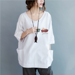 New Korean Style Large Size Tops Women Clothing Brief Round Neck