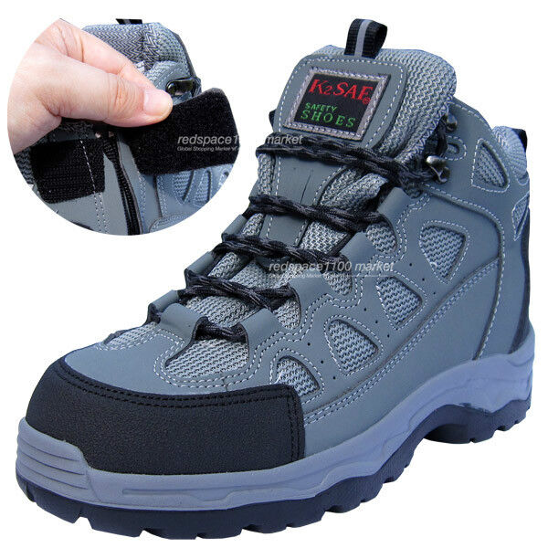 Mens K2ASF Safety Work Stiefel Steel Toe Cap Zippers grau Farbe Made in Korea