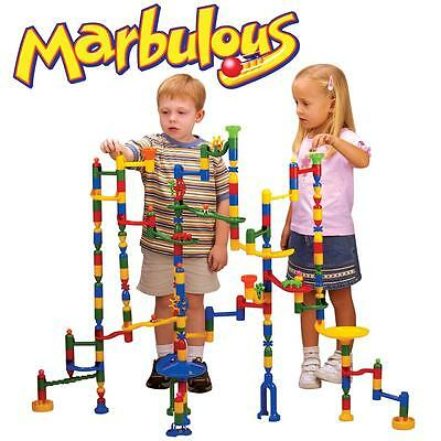 Marbulous Childrens/Kids Giant Marble Race Run 220pce Construction Track Toy Set