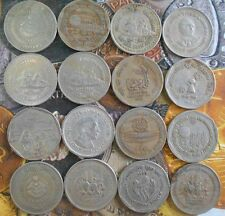34 ALL DIFFERENT MINT SET - 1 Rupee Cu Ni  & Nickel Commemorative Coins