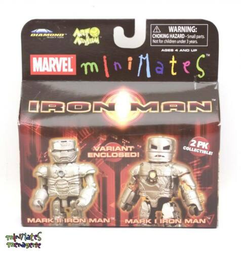 Marvel Minimates Series 21 Iron Man Movie Mark I Iron Man /& Mark II Variant