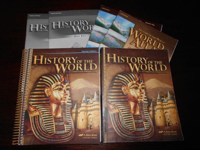 A Beka HISTORY OF THE WORLD set homeschooling 7th grade History set lot of 6