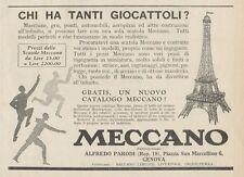 Z1645 MECCANO - Torre Eiffel - Pubblicità d'epoca - 1930 Old advertising