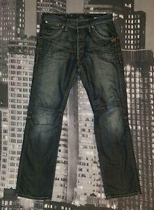 G-Star RAW Herren Jeans W34 L32 Modell MEN JACK PANT, Slim Straight, Authentisch