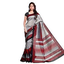 Indian Designer Art Bhagalapuri Silk Saree with Blouse Sari