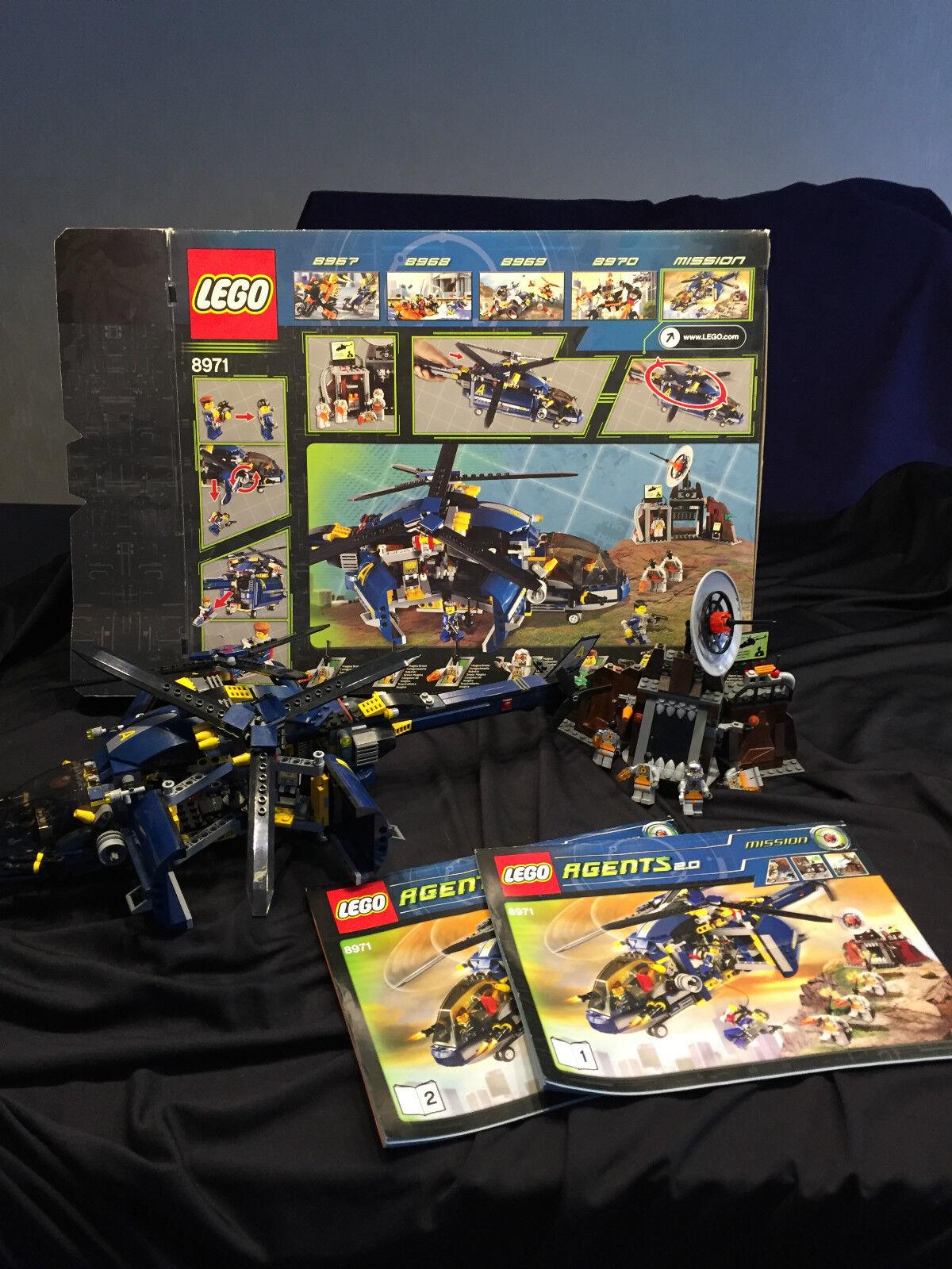 LEGO AGENTS 8971-minaccia COMM. Magma-come nuovo; mitovp * SPEDIZIONE VELOCE *