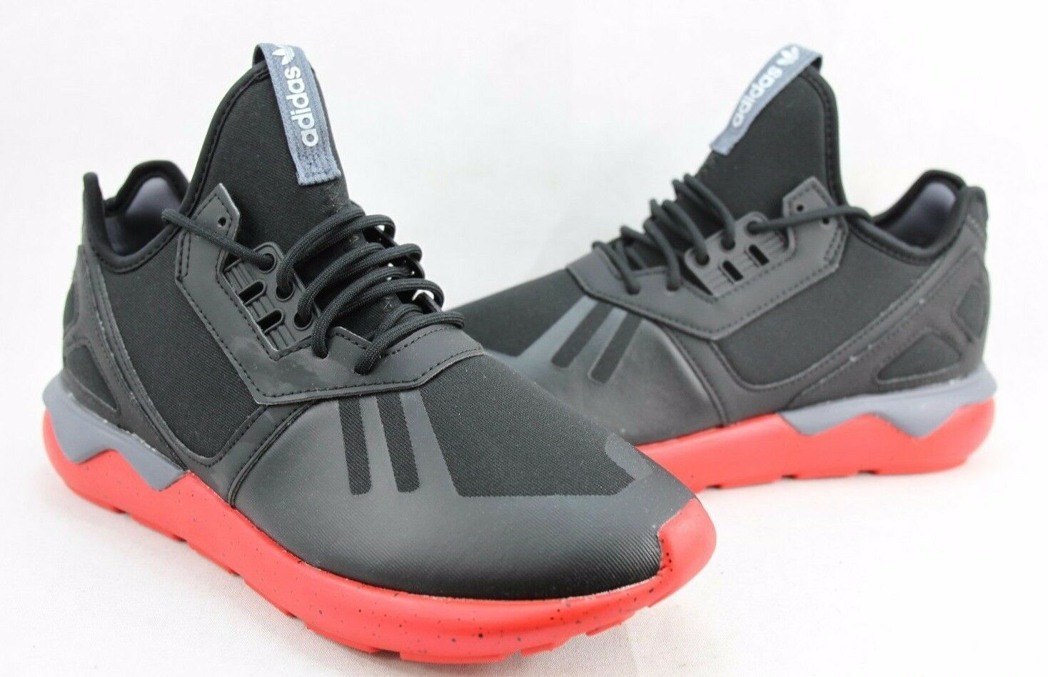 Adidas tubulare runner nero rosso pomodoro aq8387 8 b634a9