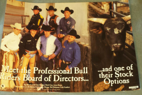 RODEO POSTER PBR Board of Directors-Tuff Hedeman-NEW-bullrider-bullriding