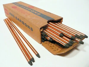 """CARBON ARC RODS for 35mm FILM PROJECTION - 1 BOX of 7mm x 9"""" NATIONAL NEGATIVES"""