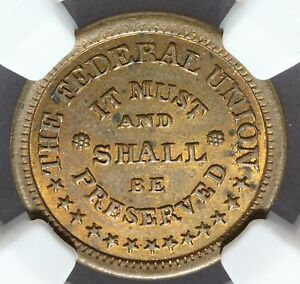 1861-65-The-Federal-Union-Army-amp-Navy-Civil-War-Token-F-225-327a-NGC-MS-63-RB