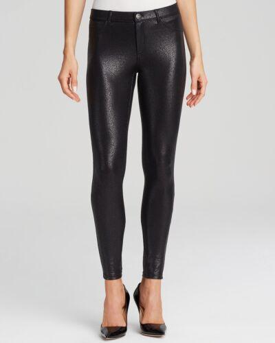 NEW HUE Satin Jersey  Black Leggings size XS XSmall $42 U14772