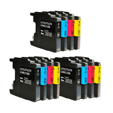 12 NON-OEM INK BROTHER LC-71 LC-75 XL LC-75BK LC-75C LC-75M LC-75Y MFC-J835W