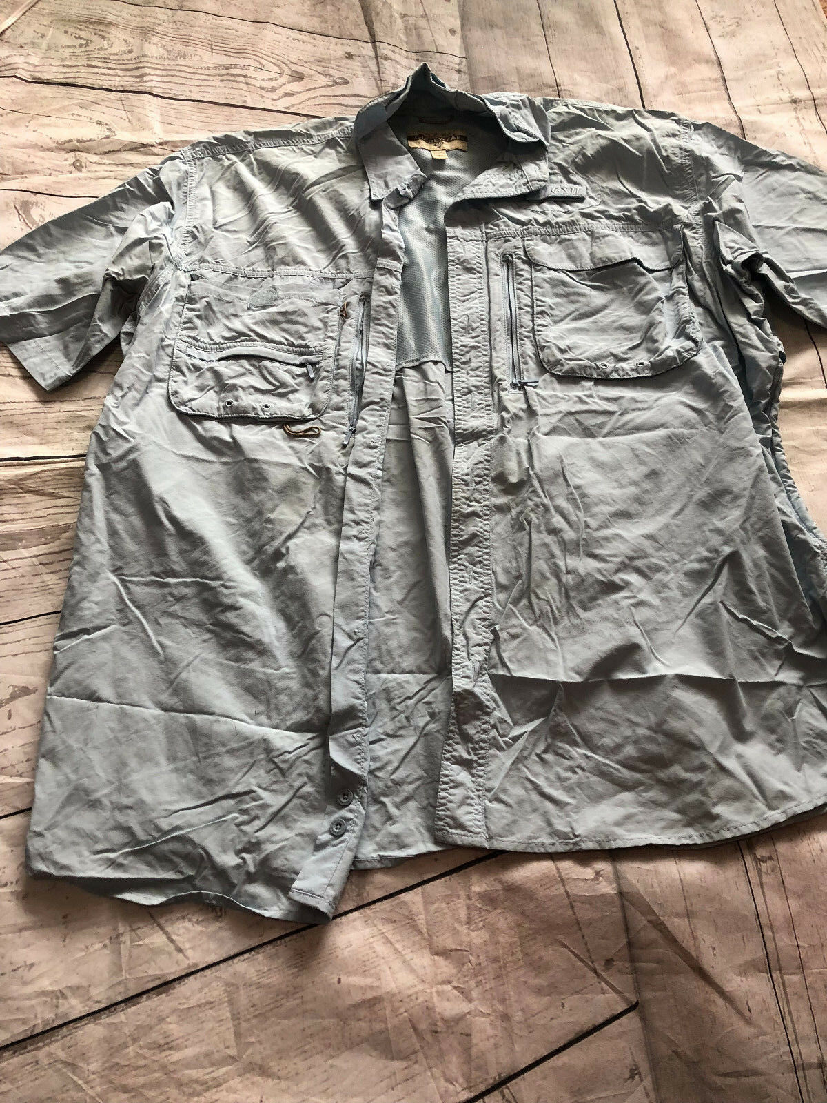 Cabelas Guidewear GXII 40 UPF Vented Mesh Shirt Button Front Size Extra Large
