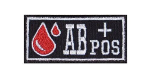 POS groupe sanguin patch écusson badge Blood Type Biker Rocker Bügelbild Blouson À partir de