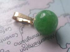 Smaragd Kugel Anhänger Gold 585, Kettenanhänger Gold 585 mit Smaragd 8,5 mm