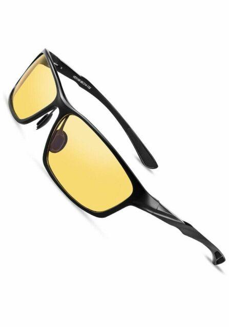 "HD Night Vision Driving Glasses Anti-Glare Blue Light Blocking /"" Computer Gaming"