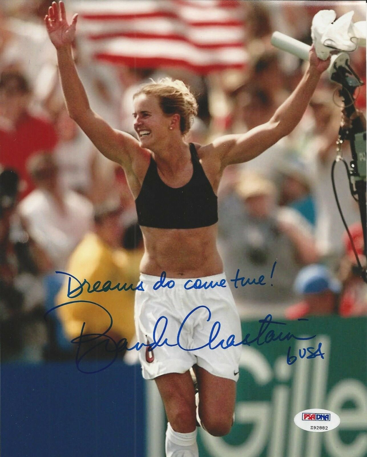 Brandi Chastain Signed Team USA 8x10 Photograph w/Insc. - PSA/DNA #Z92882