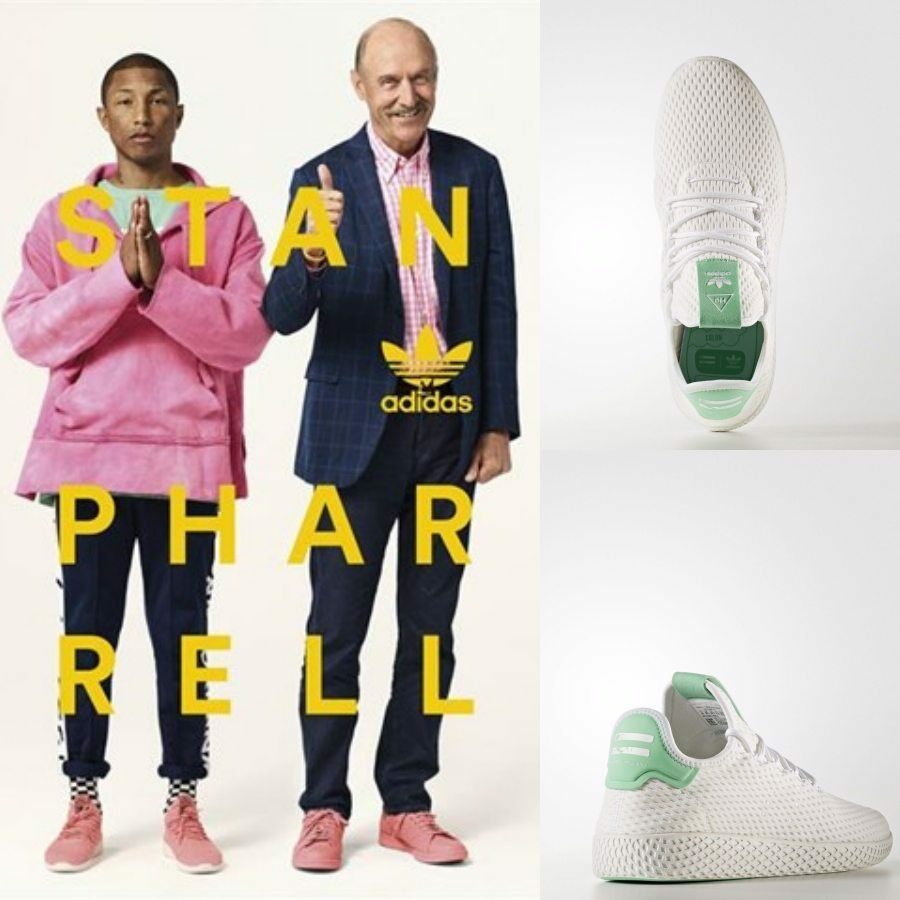 Adidas x Pharrell Williams PW Tennis HU Unisex Running White BY8717 Size 4-11