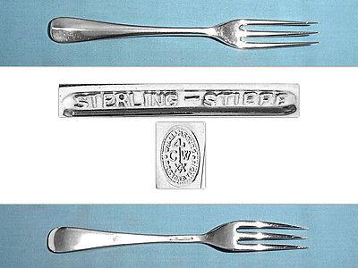 """KIRK STIEFF WILLIAMSBURG QUEEN ANNE STERLING 5-3//4/"""" TEASPOON NO MONO"""