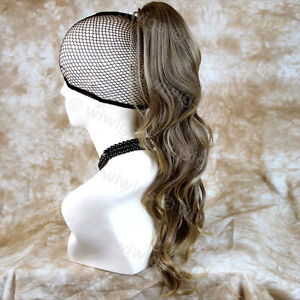 Wiwigs-Stunning-Brown-Long-Wavy-Clip-In-Ponytail-Hairpiece-Extension